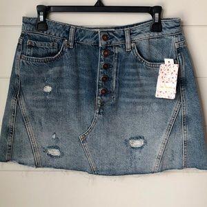 "Dresses & Skirts - NWT Free People ALine Denim Skirt ""Blue"""